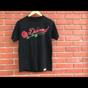 Diamond Supply Company Graphic Rose T Shirt